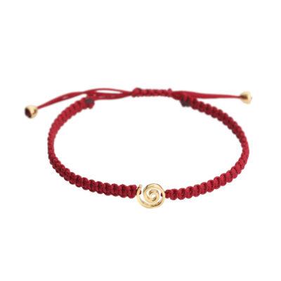 Spiral 18k yellow gold bracelet.