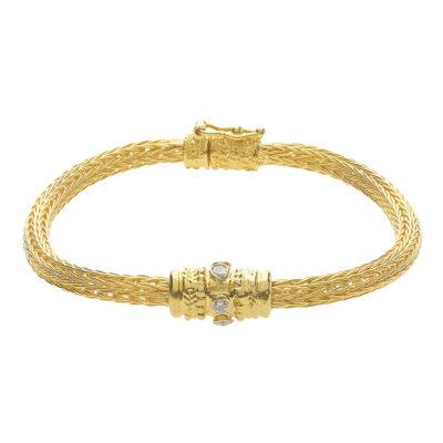 Diamond bracelet, 18 carat yellow gold, inspired by the Ancient Greek jewellery.
