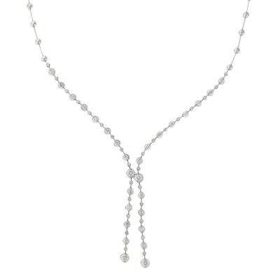 Diamond drop necklace 18 carat white gold