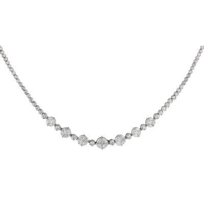 Diamond necklace 18 carat white gold
