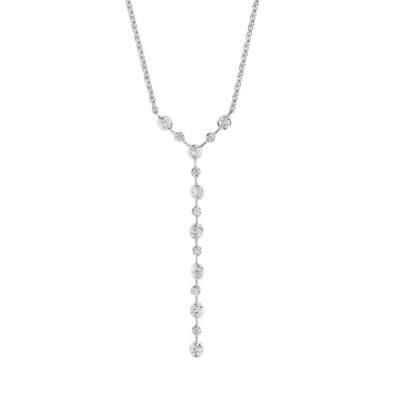 Diamond necklace K18 white gold
