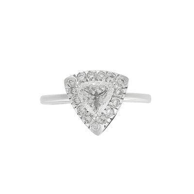 Diamond solitaire18 caratwhite gold