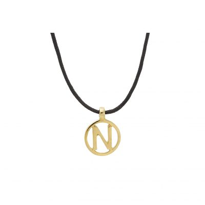 Letter N 18 carat yellow gold charm.