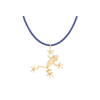 Frog silver 925 gold-plated charm.