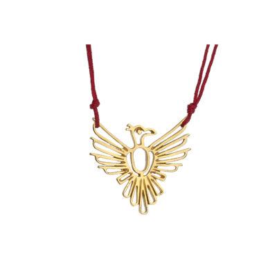 """Power totem animal """"Eagle"""" 18 carat yellow gold."""