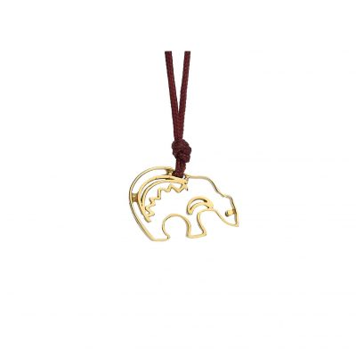 """Bear"" power animal, 18 carat yellow gold charm."