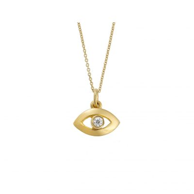 "Diamond ""Lucky Eye ""pendant 18k yellow gold"