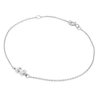 Diamond chain bracelet 18 carat white gold.