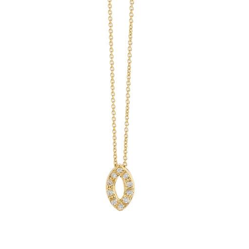 Marquise diamond pendant, 18k yellow gold.