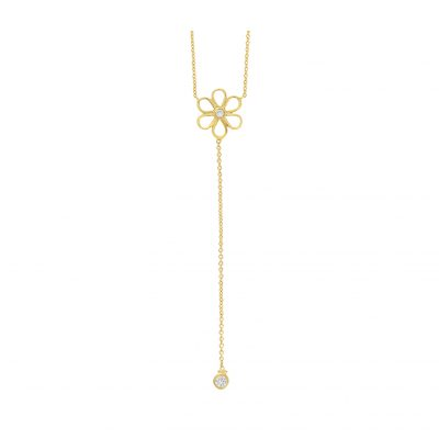 Diamond pendant 18 carat yellow gold