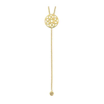 18 carat yellow gold and diamond drop pendant