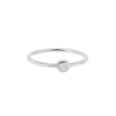 Solitaire Brilliant Cut Diamond Ring
