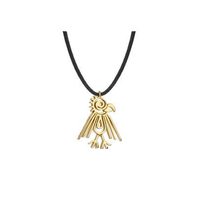 """Hawk"", 18 carat yellow gold charm."
