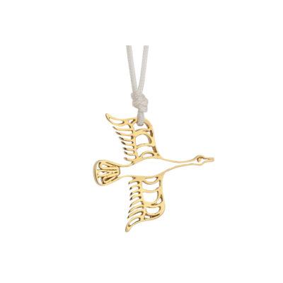 """Goose"" power animal, 18 carat yellow gold charm."