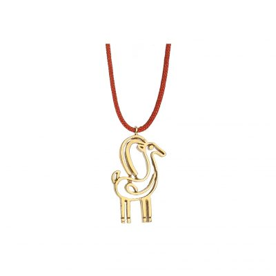 "Power totem animal ""Dear""18 carat yellow gold."