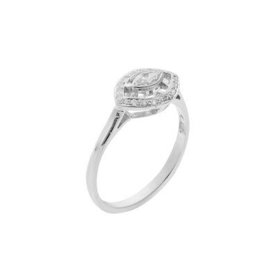 Pavé Marquise Diamond Ring