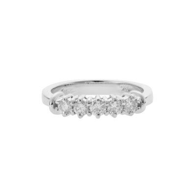 Five stones diamond band