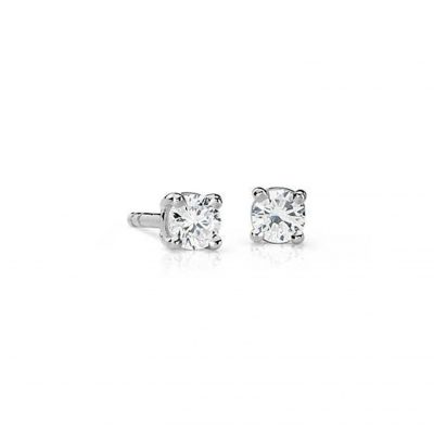 Brilliant cut diamond solitaire earrings