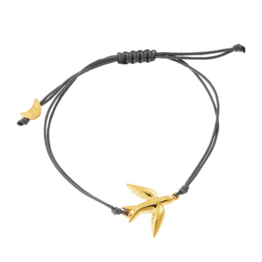 """Swallow"" K18 yellow gold bracelet. Michalis lucky charm 2021."