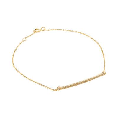 Diamond bar chain bracelet,18 carat yellow gold.