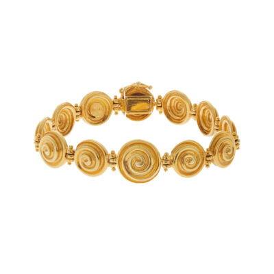 Bracelet 18 carat yellow gold, inspired by the Ancient Greek jewellery.