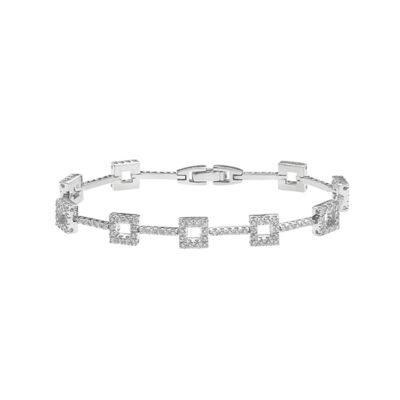 Diamond bracelet in 18 carat white gold.