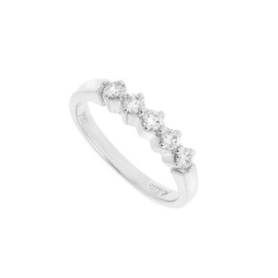 Diamond half band 18 carat white gold.