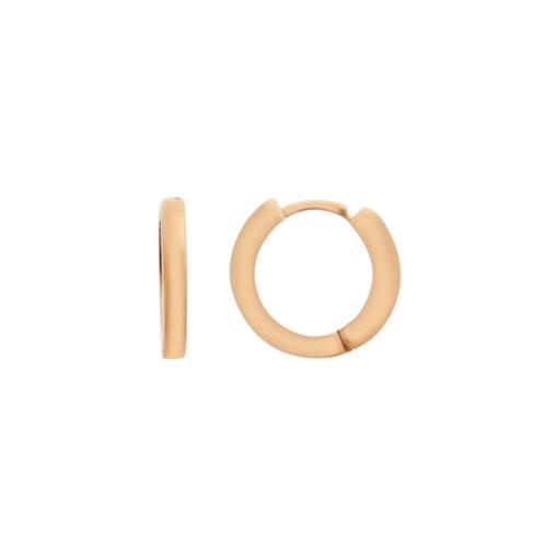 Hoop earrings 18 carat pink gold.