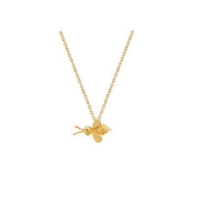"""Bee""14k yellow gold charm pendant."