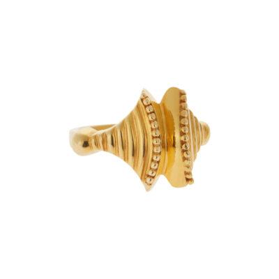 Ring 18 carat yellow gold.