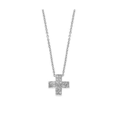Diamond Cross, K18 White Gold