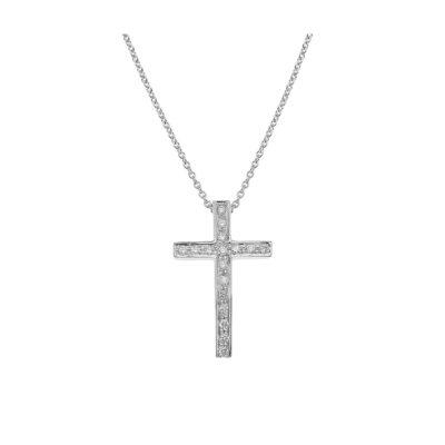 Diamond Cross 18 Carat White Gold