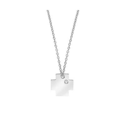 Diamond Cross 18k White Gold.