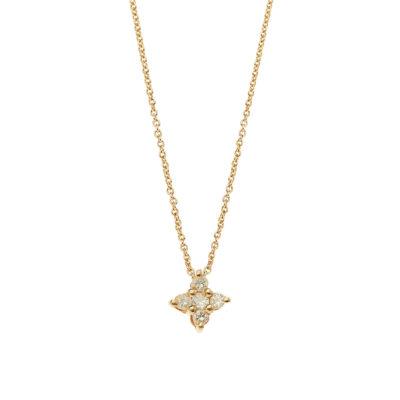 Diamond cross 18 carat yellow gold.