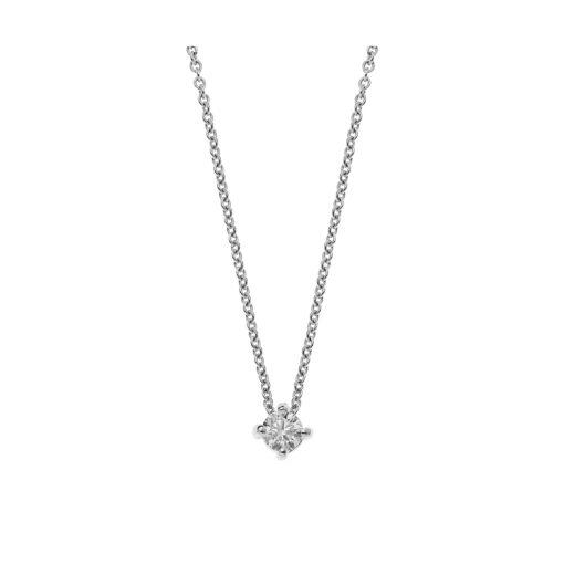 Diamond solitaire pendant 18 carat white gold